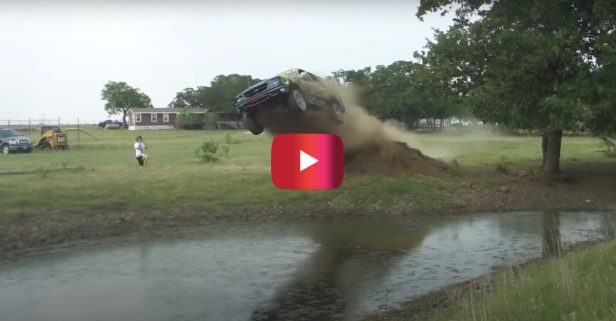 Ford Explorer Launches Into Pond Full of Snakes