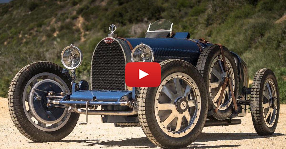 Matt Farah Takes 1927 Bugatti Type 35 For A Spin