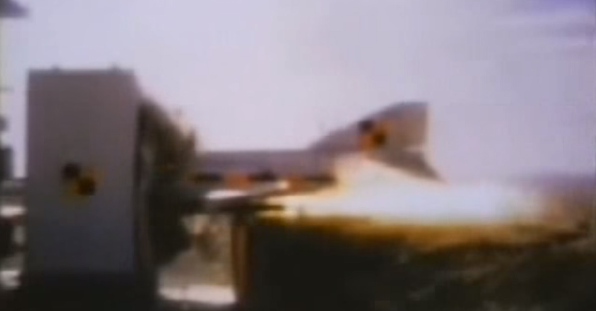 [VIDEO] F4 Phantom Jet Gets Obliterated by a Reinforced Concrete Wall