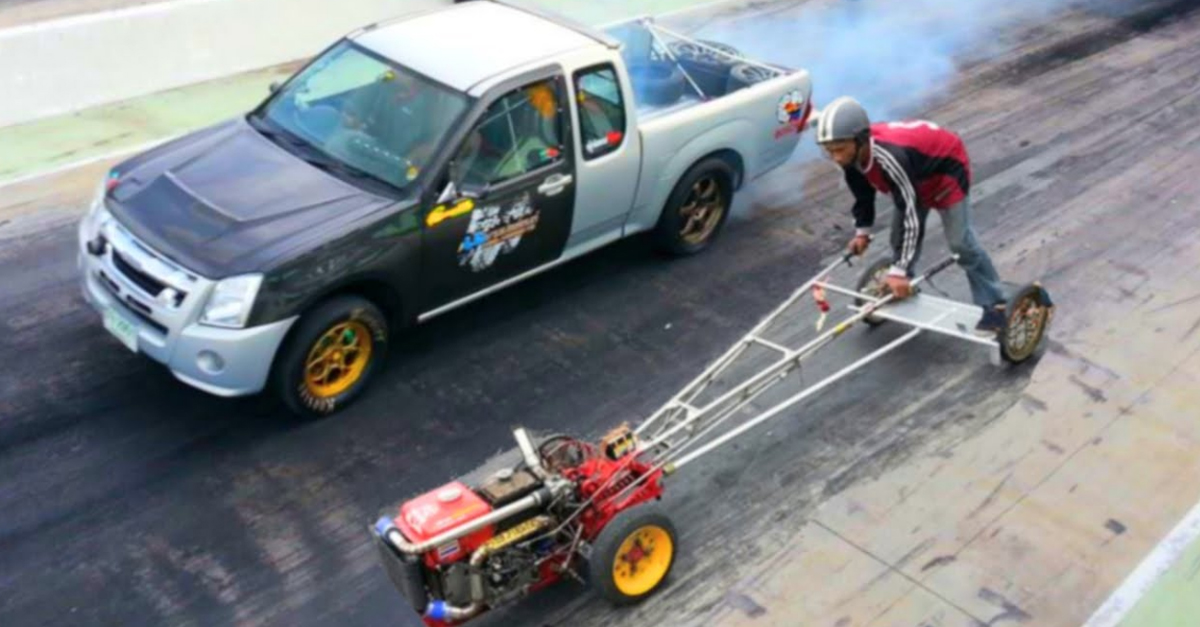 [WATCH] Kubota Farm Tractor Destroys Mitsubishi Pickup in a Straight Drag Race