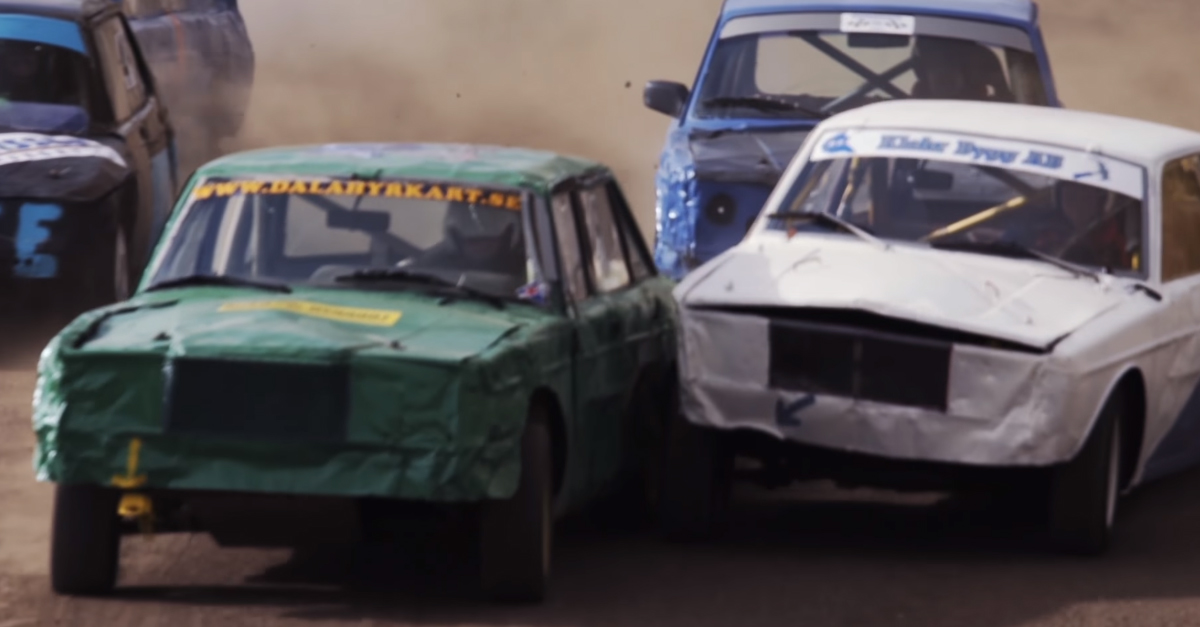 [VIDEO] Anything Goes in No-Holds Barred Volvo/Saab Racing League