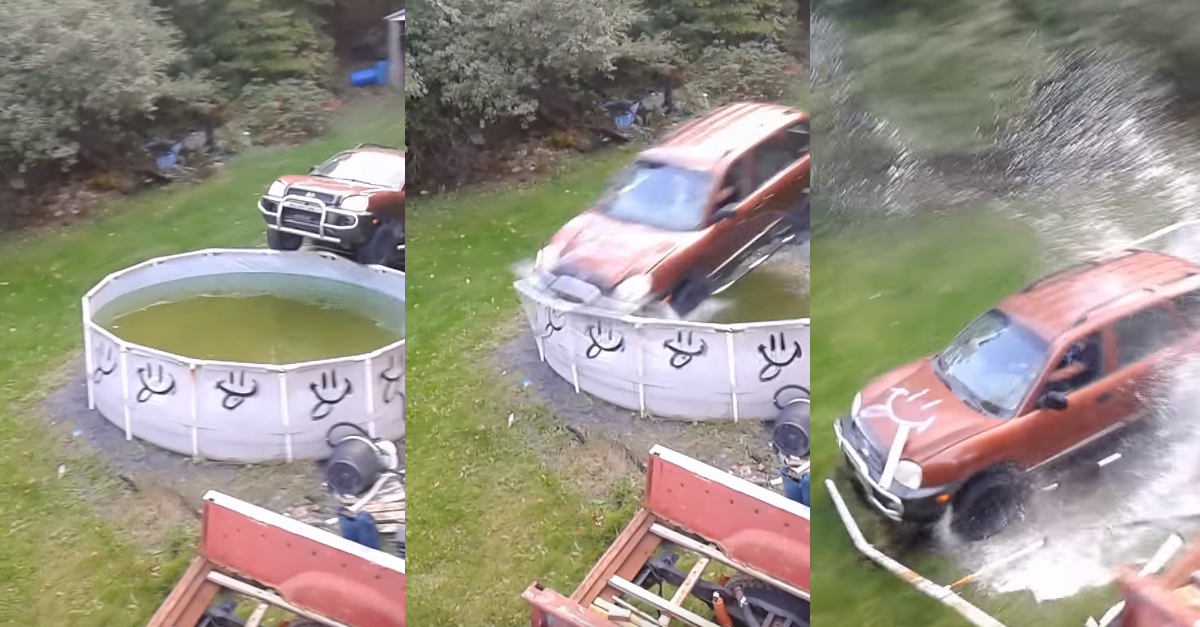 [VIDEO] When You Have A Junk Car And A Full Pool You Can Have A Ton of Fun