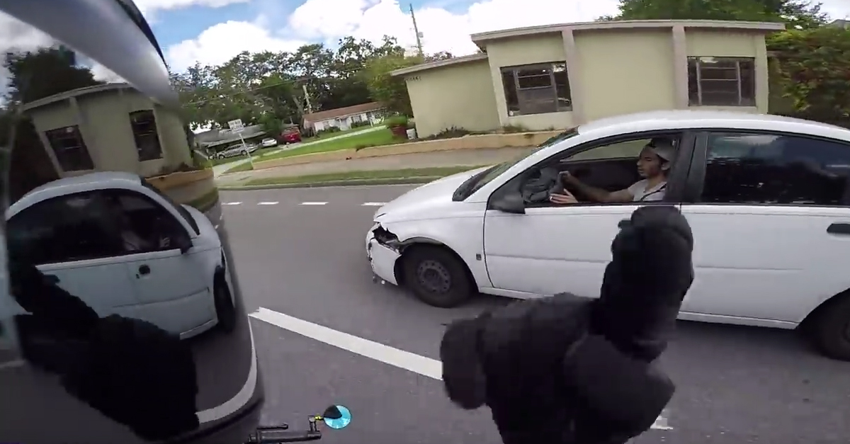 [VIDEO] Biker Chases Down Scum Trying to Pull a Hit and Run