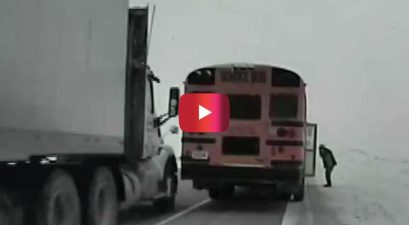 semi truck bus crash