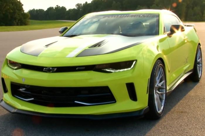 [VIDEO] SEMA 2016 – Chevy Unveils New Autocross Turbo Camaro Concept