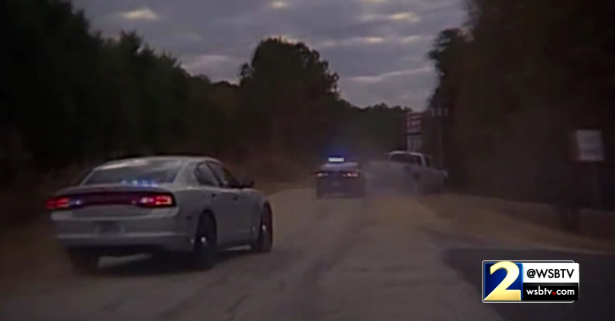 [VIDEO] Police Dashcam Captures Georgia Cops In Mad Chase to Rescue an 81-Year-Old Kidnapping Victim