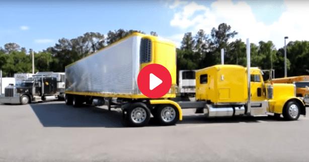 53-Foot Semi vs. Parking Space: Will the Trucker Nail This Jackknife Maneuver?