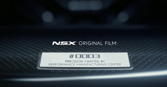 [VIDEO] Acura Is Promising Every NSX Owner An Original Short Film Featuring Their Car