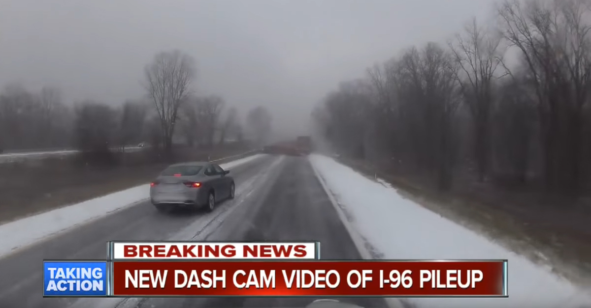 Trucker Dash Cam Films a Deadly Pile Up, Proves How Quickly Something Can Come Up in Bad Visibility