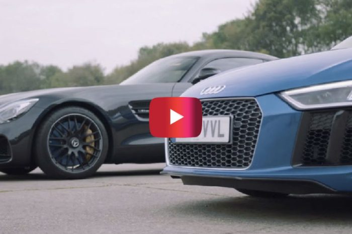Mercedes-AMG GT S vs. Audi R8 V10: German Supercars Go Head-to-Head in Wild Race