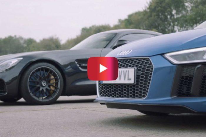 Mercedes-AMG GT S vs. Audi R8 V10: German Supercars Go Head-to-Head in Wild Race
