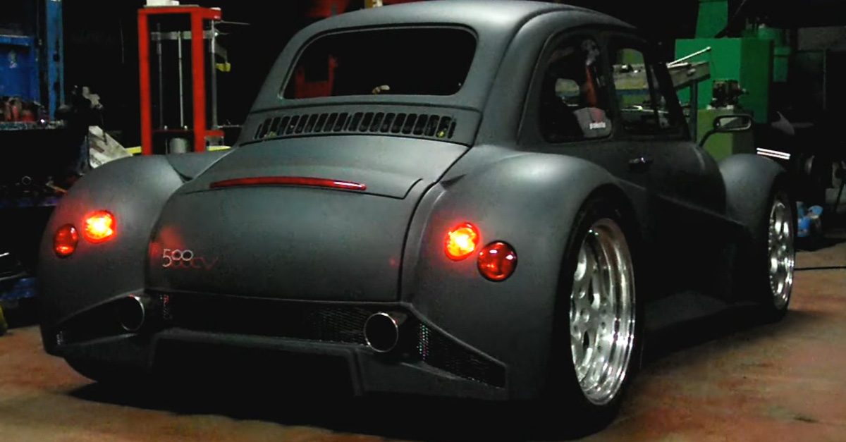 Fire-Breathing Fiat 500 Combined With Lamborghini Murcielago V12