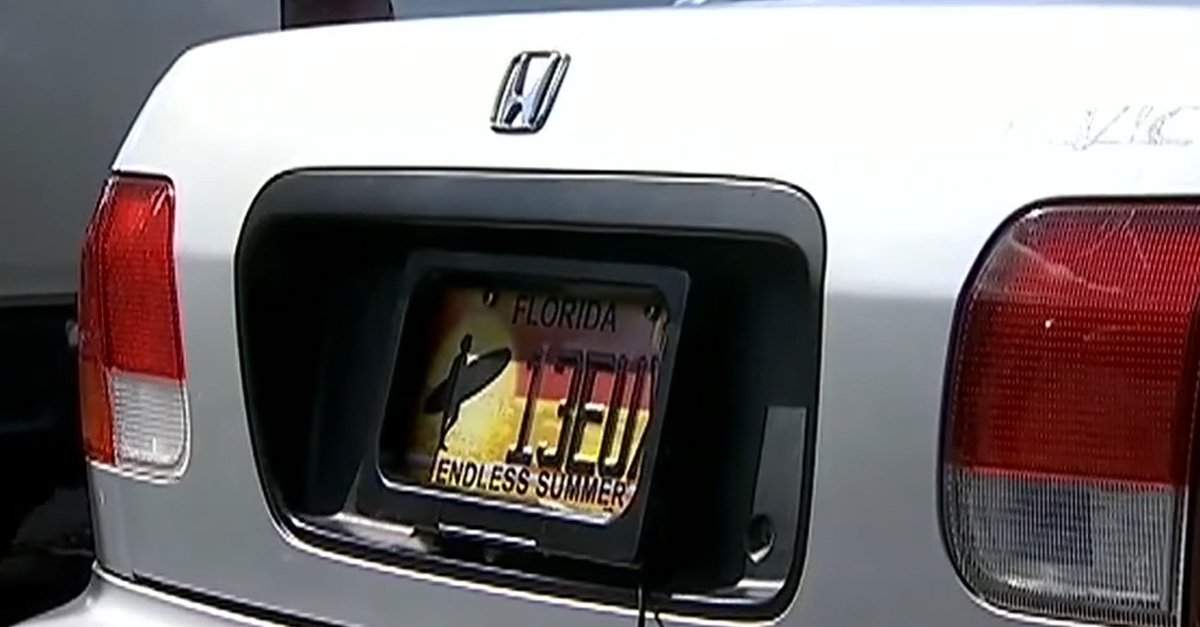 Florida Man Faces Felony Charges For License Plate Gadget
