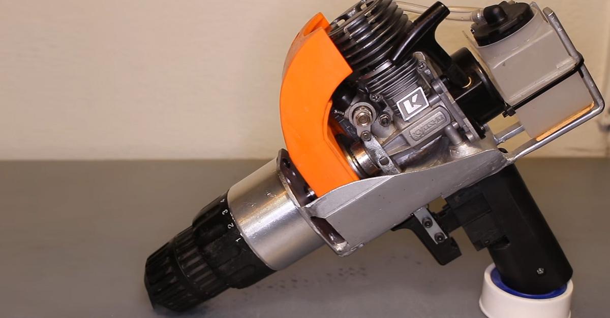 Crazy Gearhead's Drill Runs On Nitrous