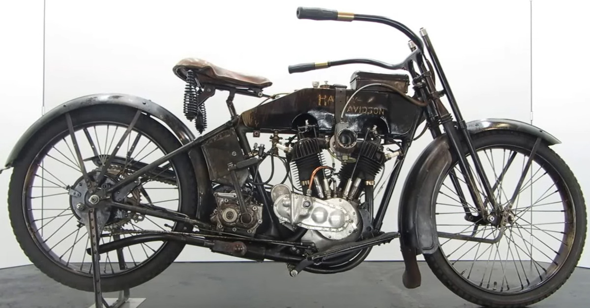 99-Year-Old Harley V-Twin Starts Up Like It's Still 1918