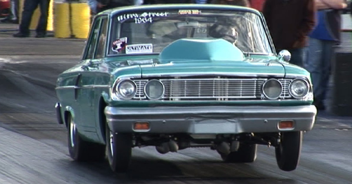 1964 Ford Fairlane Has More Motor Than Its Hood Can Handle