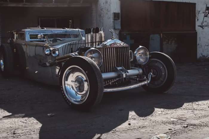 All Chrome 1936 Rolls Royce Gets The Rat Rod Treatment And It's Glorious