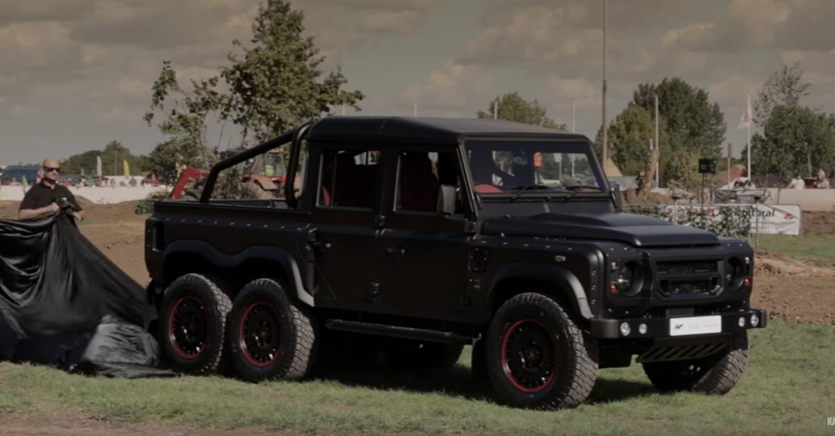 Land Rover 6×6 pickup truck proves they can make any vehicle type even more impressive