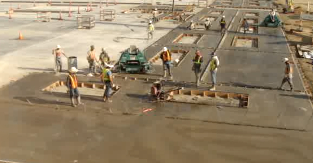 Construction Crew Can't Stop This Wild Concrete Buffer