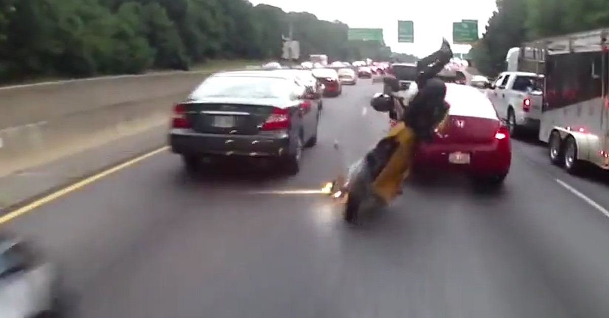 A Reckless, Lane Splitting Idiot Eats is Hard