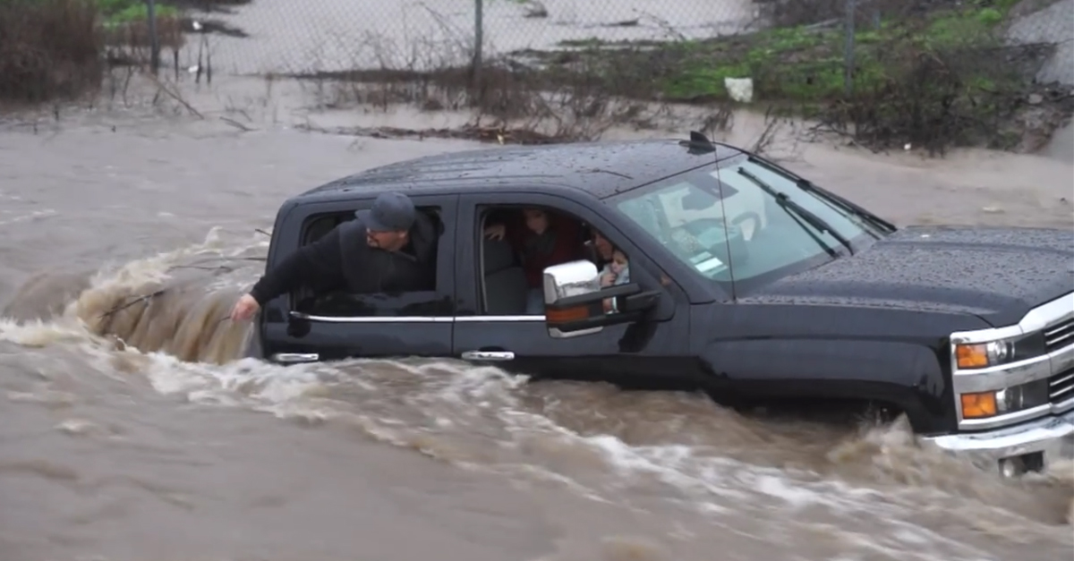 This Chevy with a Family of 4 Got Seriously Stranded in a California Flood