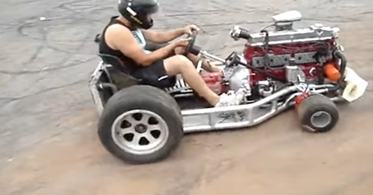 6-Cylinder Go-Kart is almost impossible to drive
