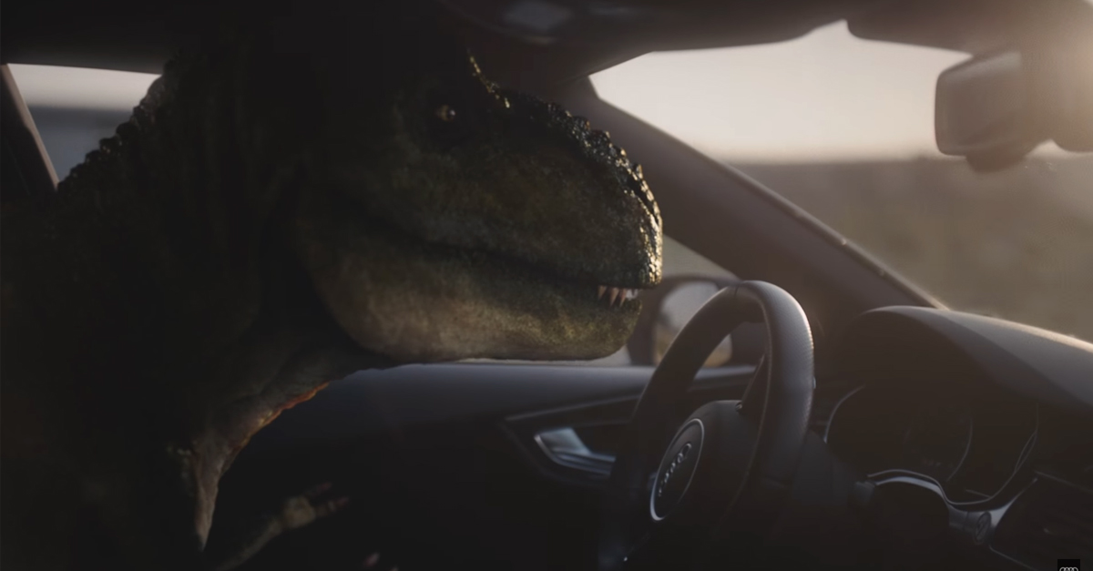 Audi commercial imagines a world where one Tyrannosaurus regains his confidence