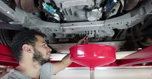 An oil change in an Aston Martin is anything but simple