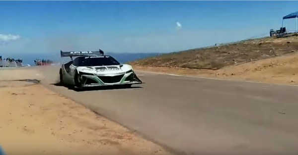 Watch 1,040 silent horses launch this NSX up Pikes Peak