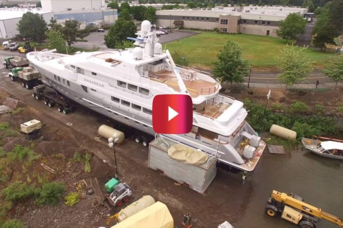 Launching a 400-Ton Yacht Is One Difficult Task