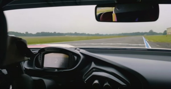 An intense onboard lap shows why the Aston Martin Vulcan is track only