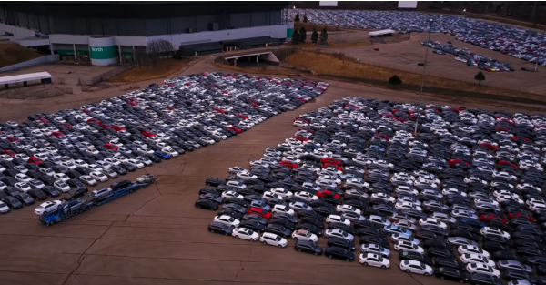 Drone footage captures sheer scale of Dieselgate