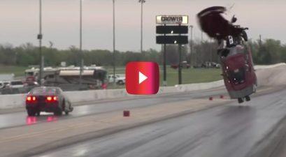 4000 horsepower corvette drag racing crash