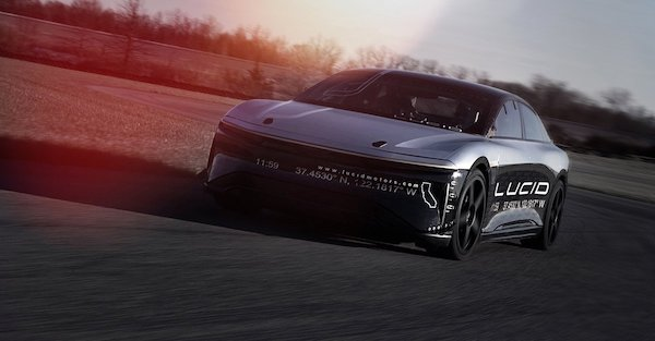 Tesla beware, Lucid Air prototype's 217 mph limiter will soon come off