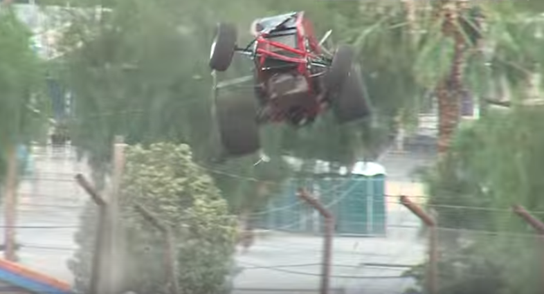 Another fence-clearing sprint car crash ends better than anyone expected