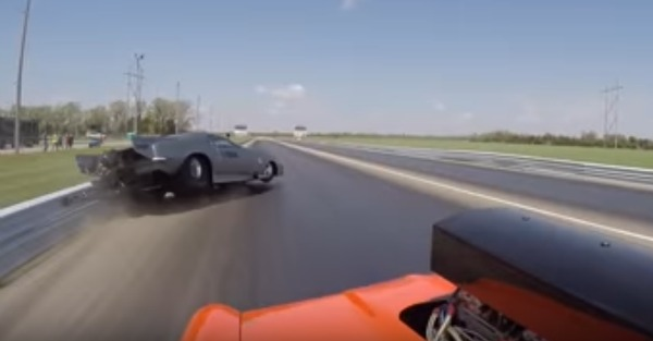 Chevy Camaro gets literally destroyed in a grudge race