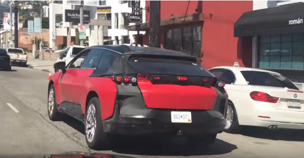 Faraday Future's prototype gets expertly trolled by a passing motorist