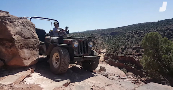 Watch a piece of junk farm Jeep conquer Moab