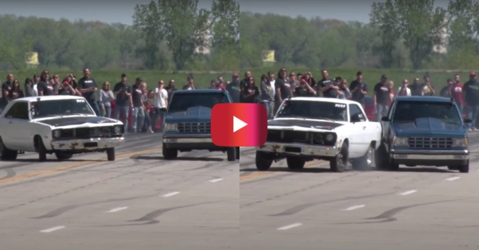 Dodge vs. Chevy Street Race Ends in Collision