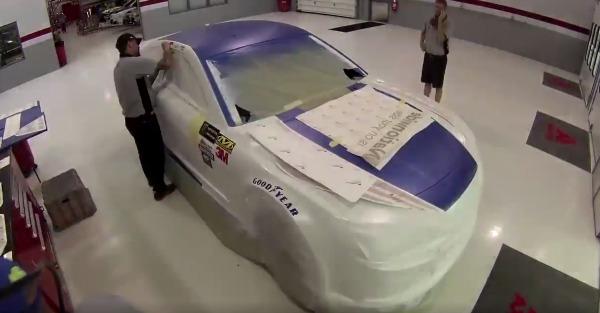 Dale Jr's new car gets a patriotic respray for memorial day