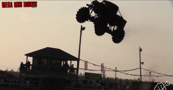 Watch trucks getting massive air before cruel gravity takes hold