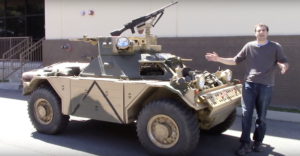 Driving a tank around suburban Nashville is totally normal