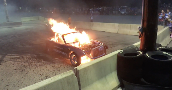 This Miata is an acceptable burnt offering to the burnout gods