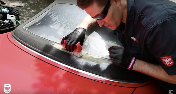 There is only one right way to clean a convertible top