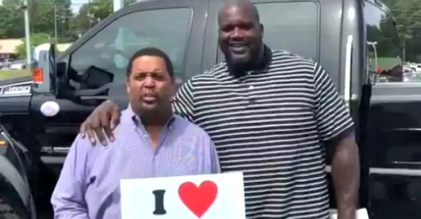 There's only one truck big enough to be Shaq's daily driver