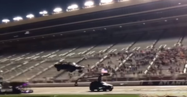 Recreating the most famous Smokey and the Bandit stunt ends badly