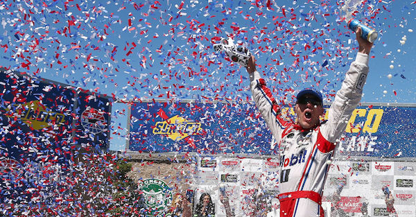 A NASCAR veteran won at Sonoma for his first victory of the year