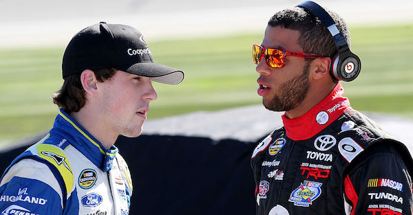 Two promising young drivers and friends are driving iconic cars at Pocono