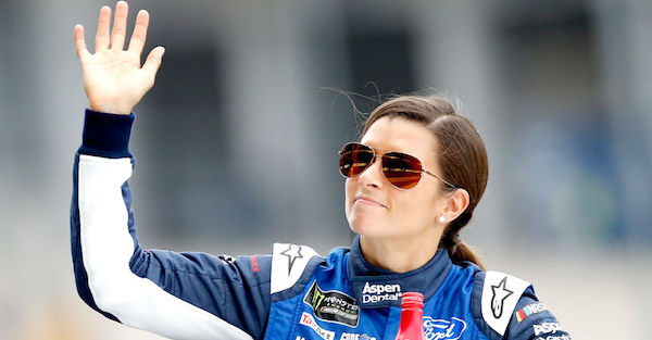 Danica Patrick forgets about the mic and loses her cool during Brickyard 400