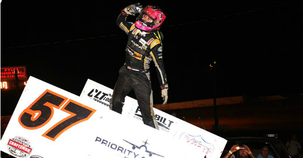 This NASCAR driver continues to dominate sprint car races